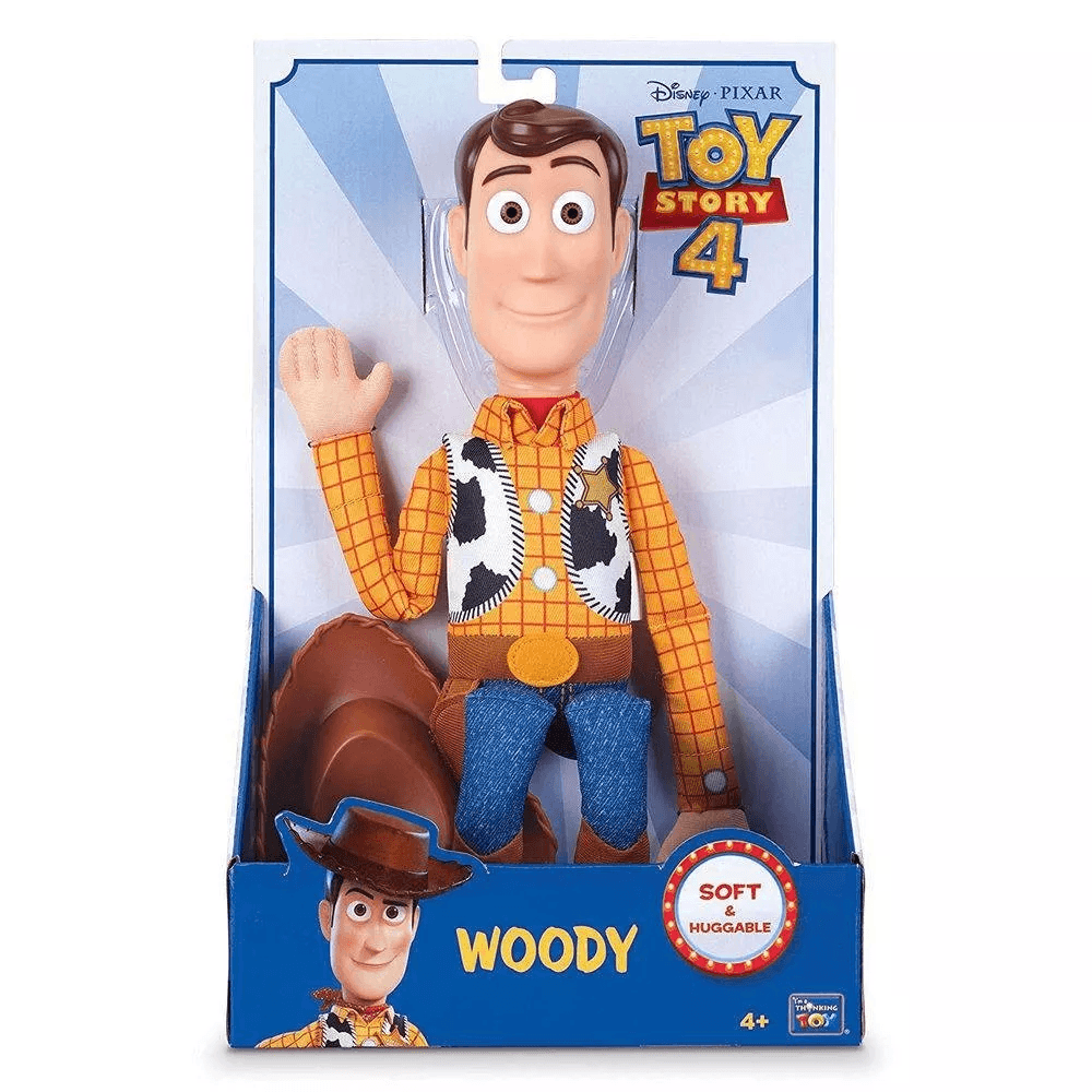 Boneco Xerife Woody Macio Toy Story 4 Disney Toyng