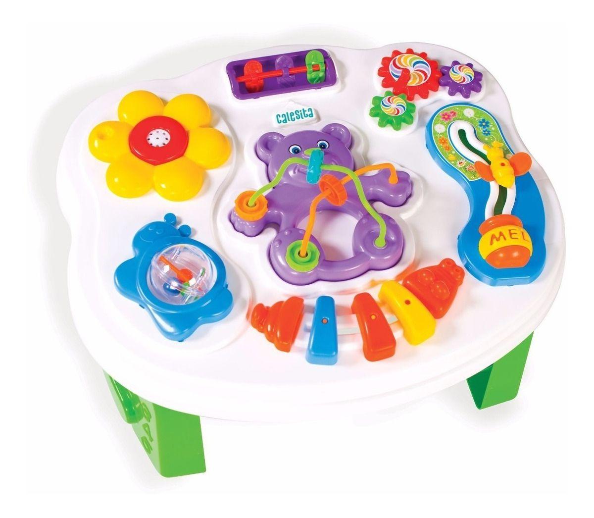 Brinquedo De Bebe Mesa Infantil Smart Table Com Som Calesita