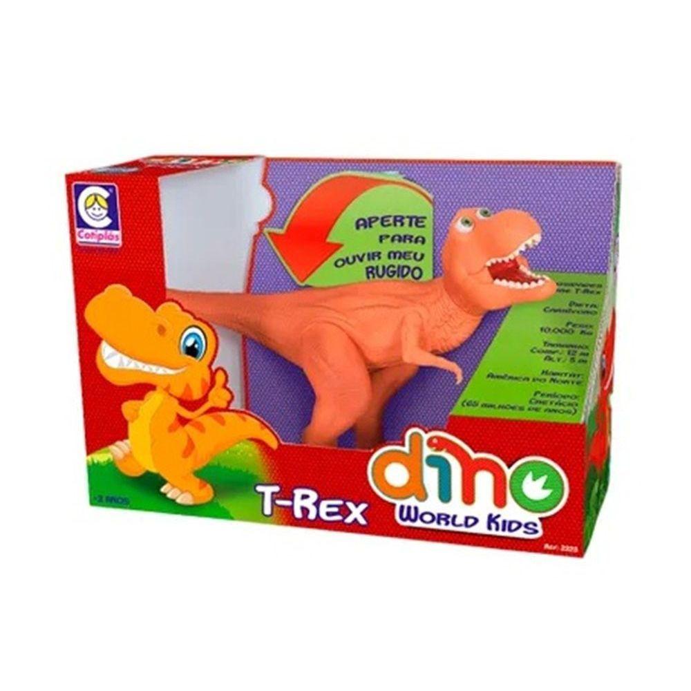 Brinquedo Dinossauro Dino World Kids T-rex - Cotiplás 2223
