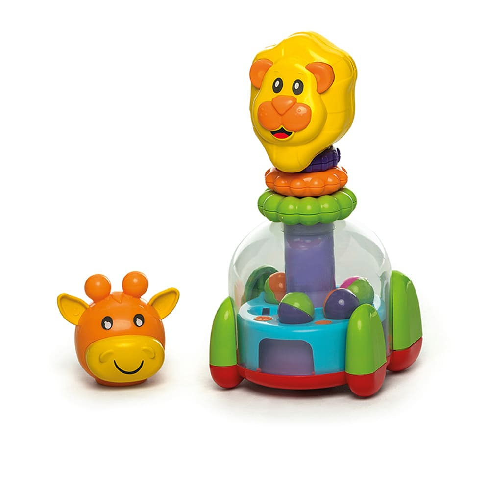 Brinquedo Educativo Baby Mix Leão E Girafa - Calesita 0863