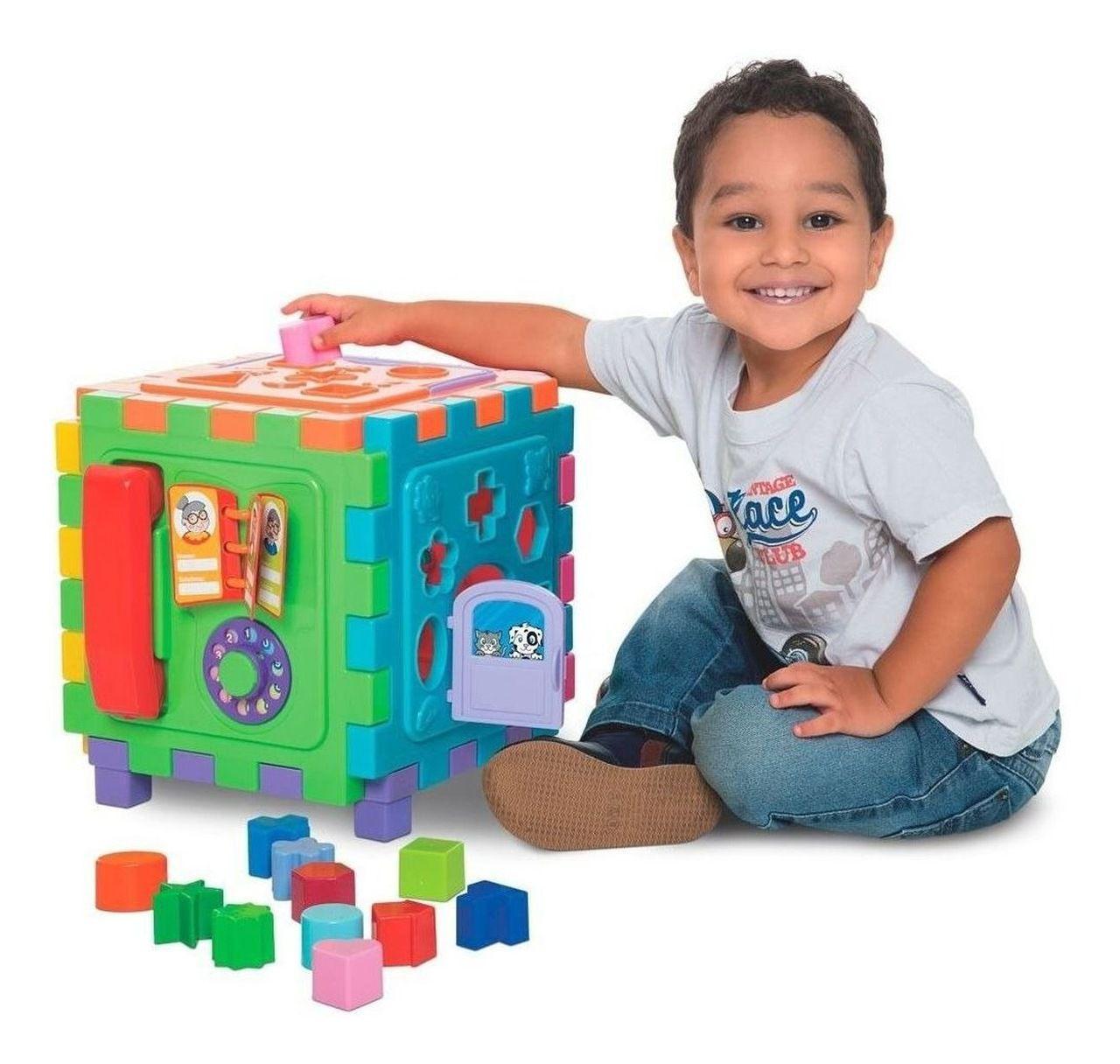 Brinquedo Educativo Cubo Didático Grande - Mercotoys 417