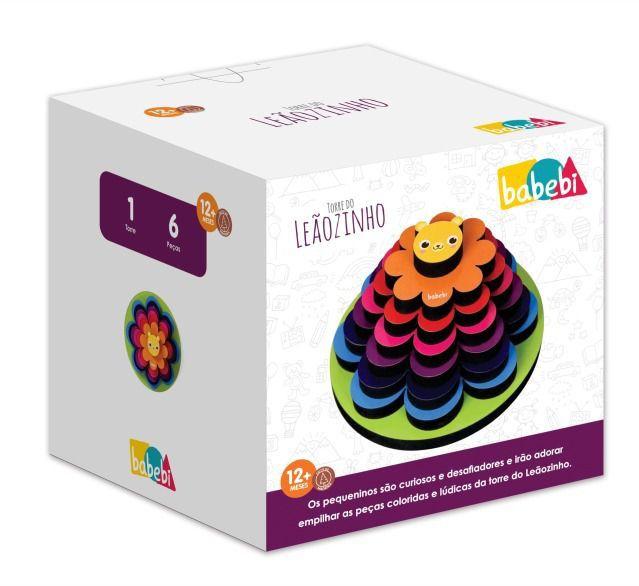Brinquedo Educativo Madeira Torre Leãozinho - Babebi