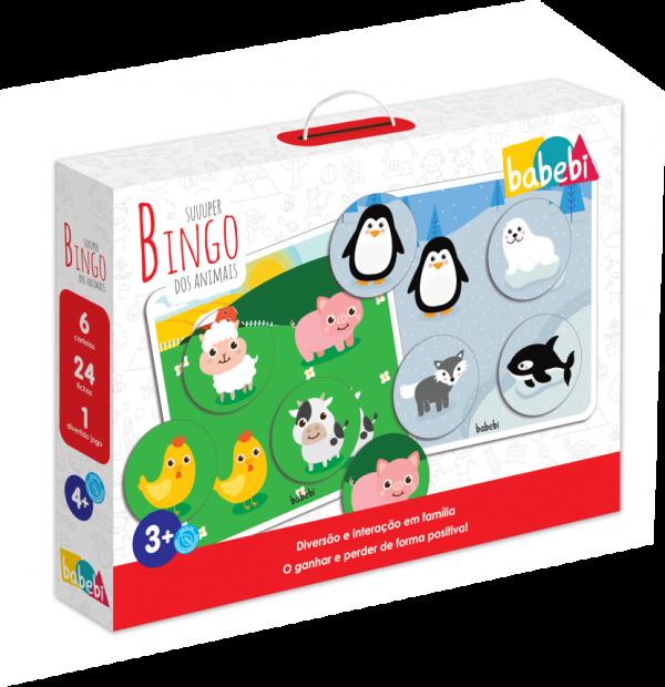 Brinquedo Educativo Super Bingo dos Animais - Babebi