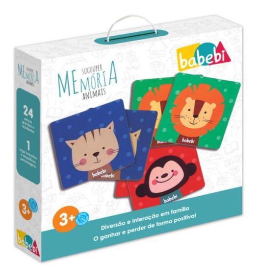 Brinquedo Educativo Super Memoria Animais da Floresta - Babebi