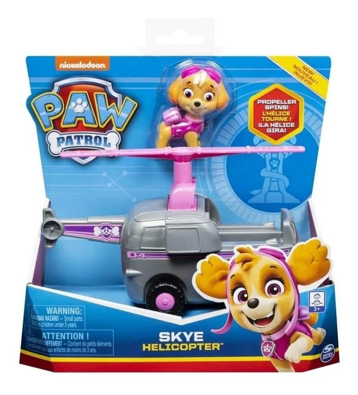 Brinquedo Figura e Veículo Patrulha Canina Skye - Sunny