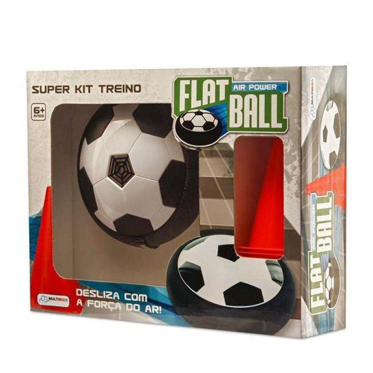 Brinquedo Flat Ball Air Power Kit Treino Com Cones Multikids