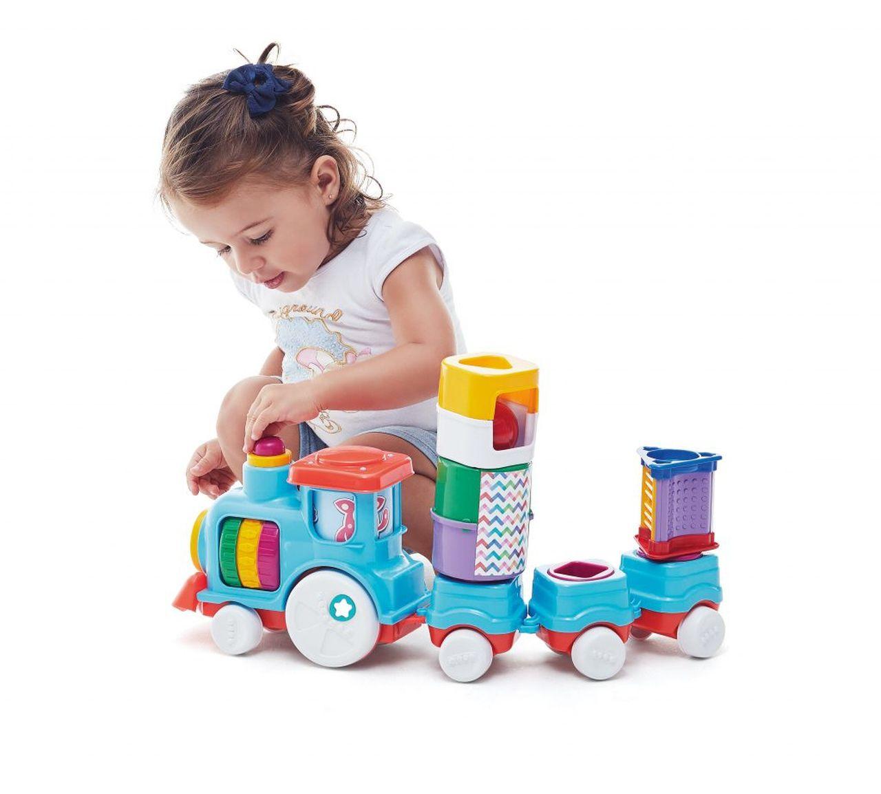 Brinquedo Infantil Anima Trem Blocks - Tateti