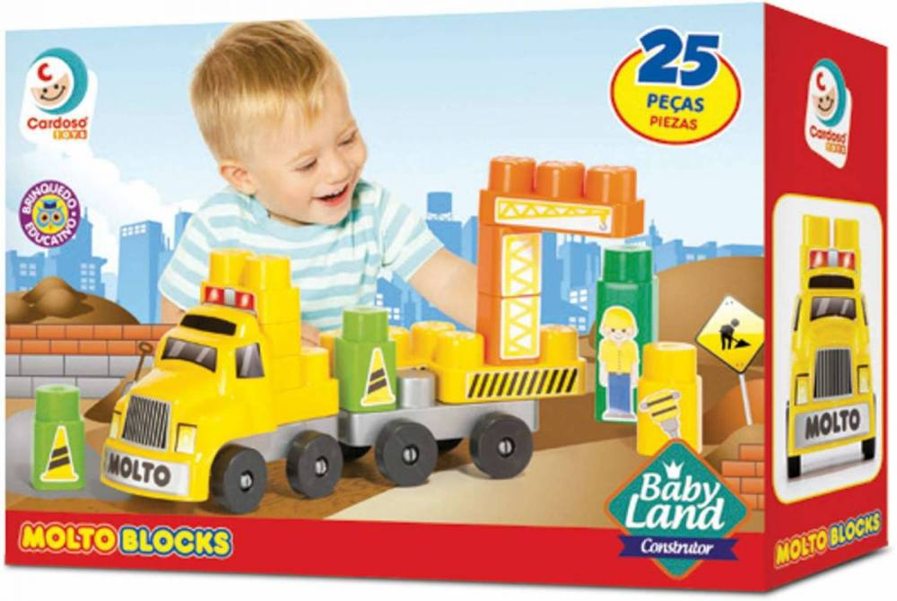 Brinquedo Infantil Baby Land Caminhão Construtor - Cardoso