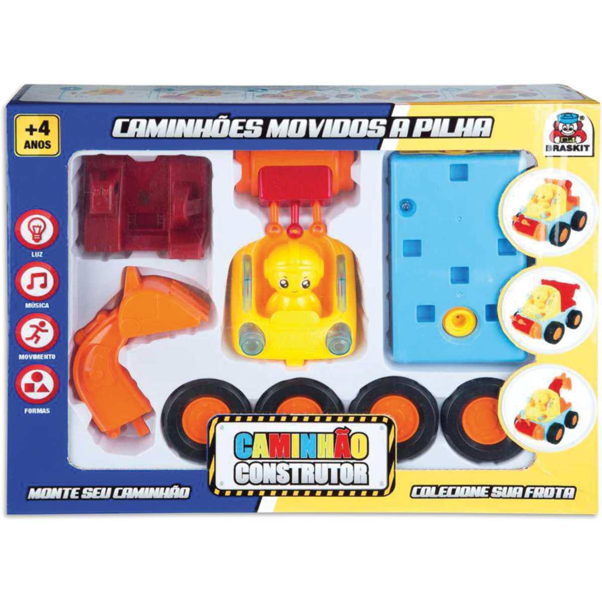 Brinquedo Infantil Caminhão Construtor - Braskit