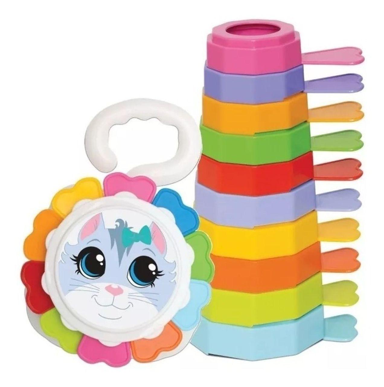 Brinquedo Infantil Empilha Baby Gatinho - Mercotoys