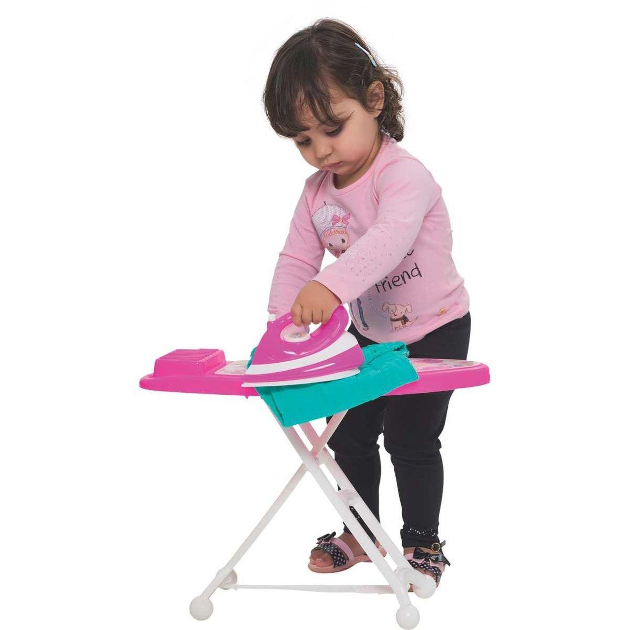 Ferro de Passar Infantil com Tabua Rosa Com Som - Mercotoys