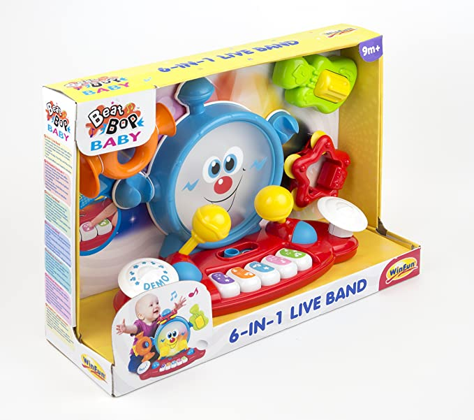 Brinquedo Infantil Banda Musical Com Som E Luz - Winfun