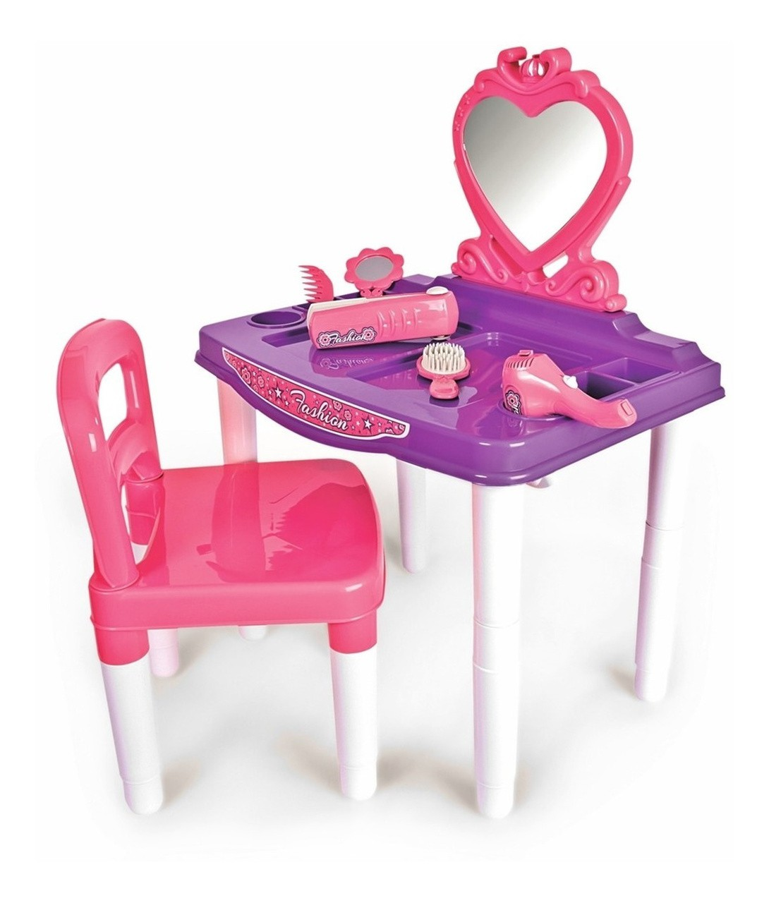 Brinquedo Master Fashion Penteadeira com Cadeira - Poliplac