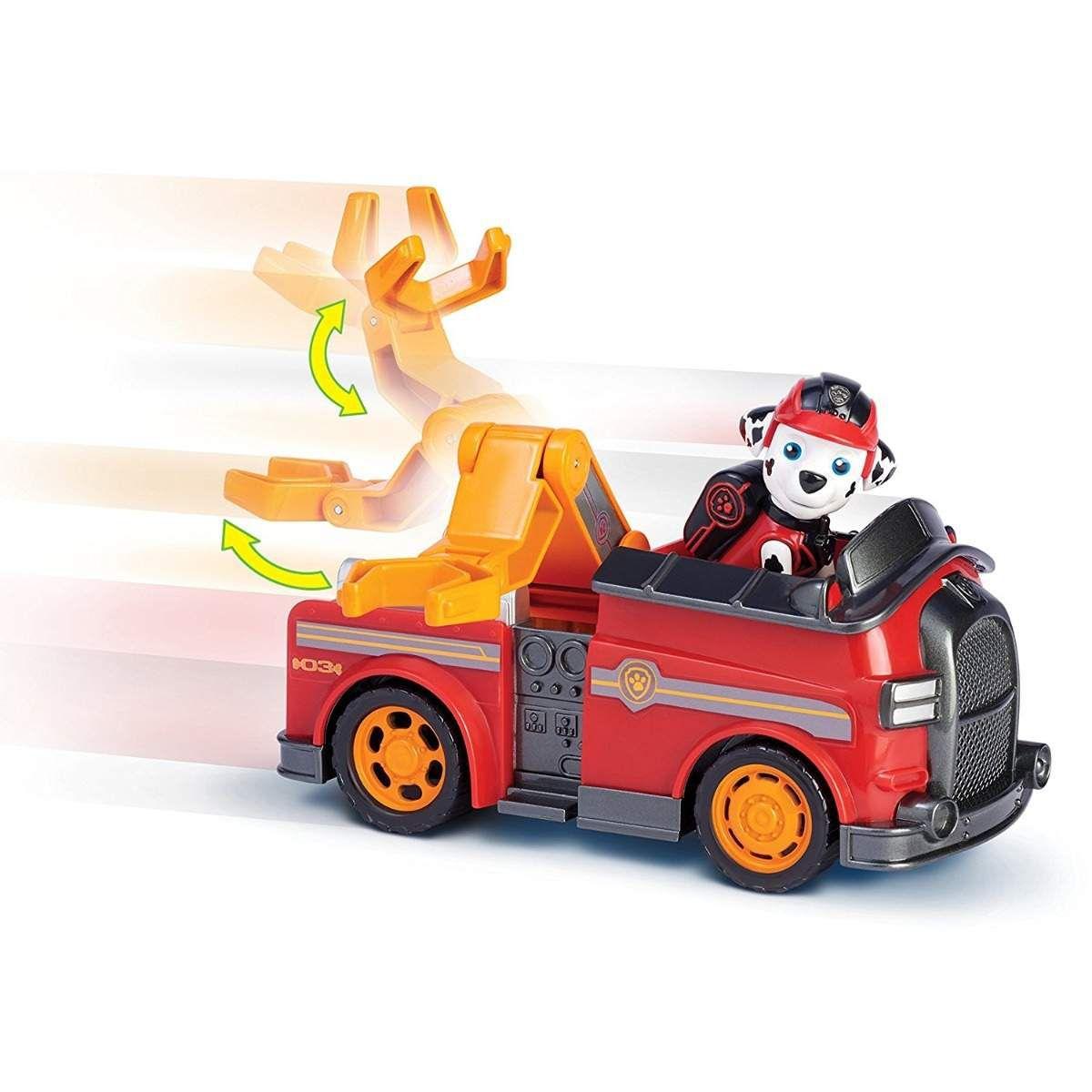 Brinquedo Patrulha Canina Mission Paw Boneco Veiculo Marshall - Sunny