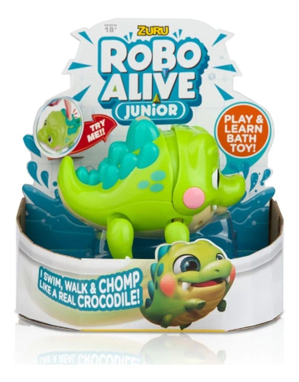 Brinquedo Robo Alive Crocodilo Junior Nada e Anda - Candide