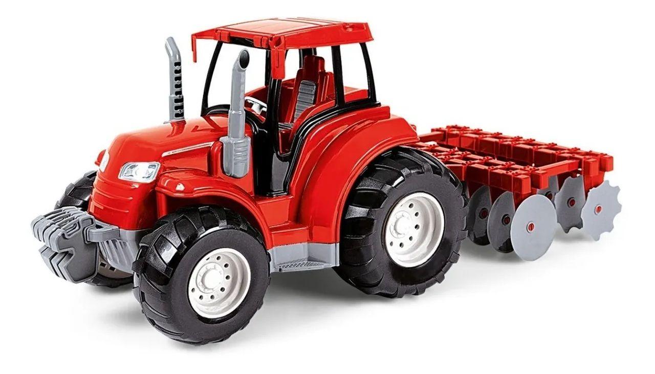 Brinquedo Trator  Infantil Arado 18 Cm Poliplac - 5979
