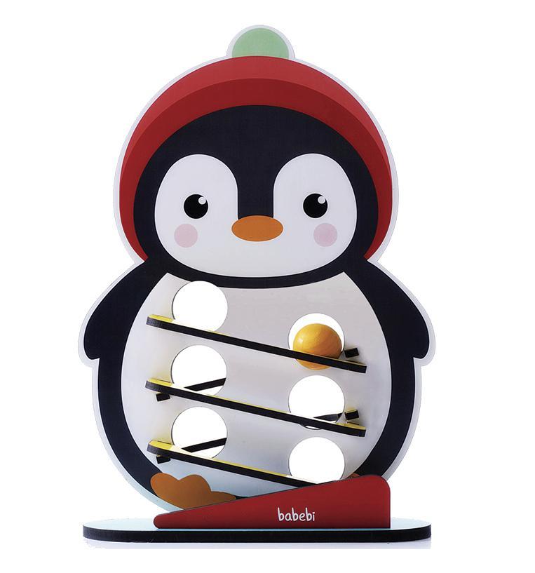 Brinquedos Educativo Rolando Bolinha Com o Pinguim - Babebi