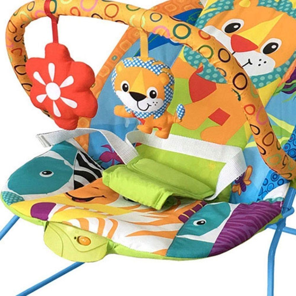 Cadeirinha Infantil Musical Vibratória Lite Safari Baby Style