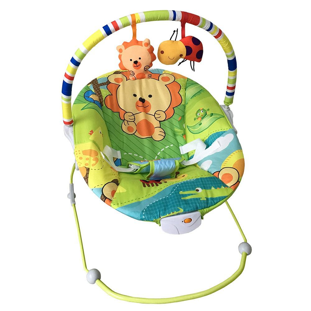 Cadeirinha Infantil Vibratória Musical Poli Leao - Baby Style
