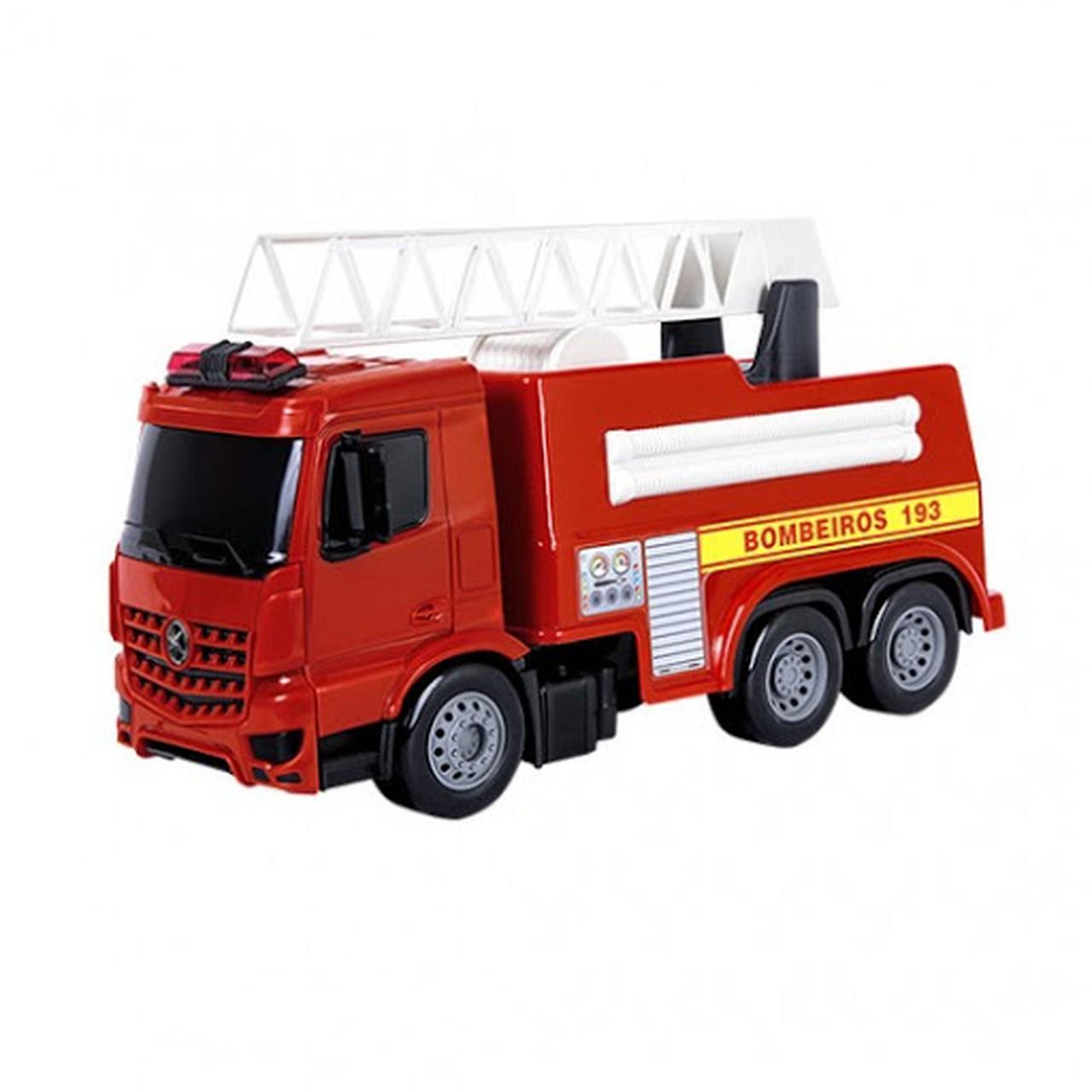 Caminhão de Bombeiro Roda Livre Super Frota - Poliplac 7133