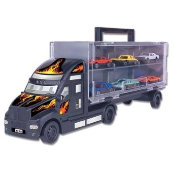 Caminhão Cegonha Maleta com 6 Carrinhos - Braskit
