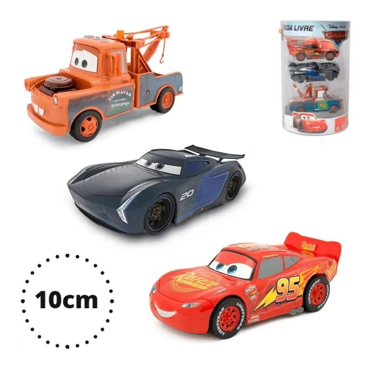 Carrinho Carros 3 Disney Pixar 3 Uni Roda Livre 10cm - Toyng