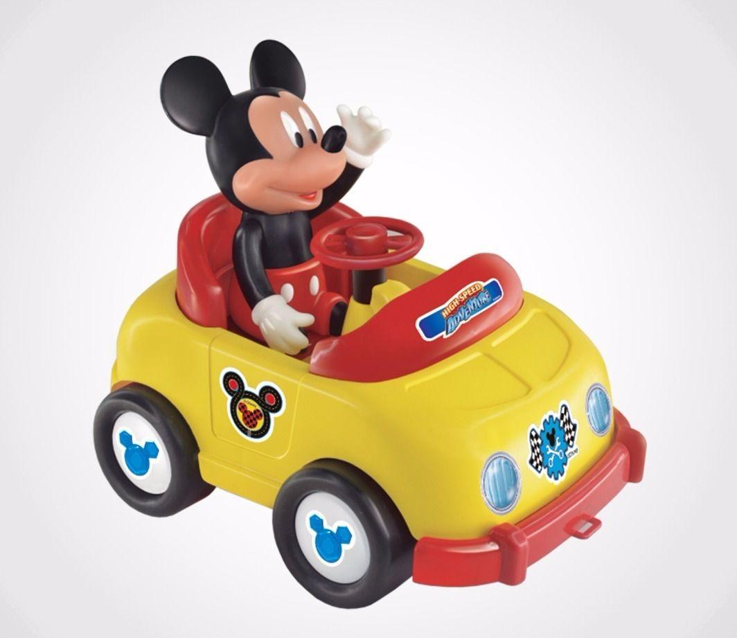 Carrinho Com Boneco Vinil Mickey Aventura Sobre Rodas -Lider
