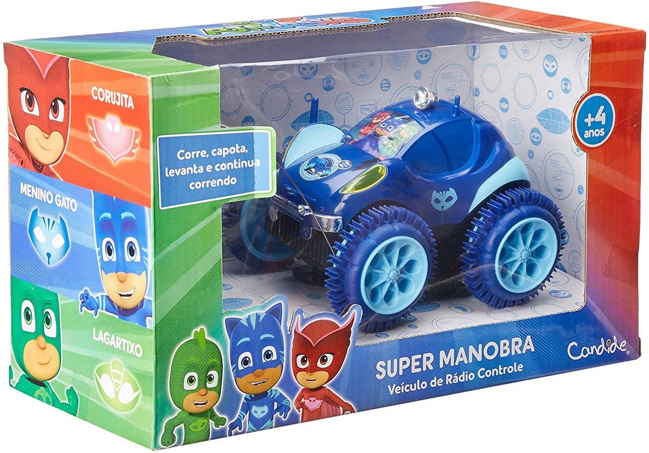 Carrinho Controle Remoto Pj Masks Super Manobra 3 Funç. M.g