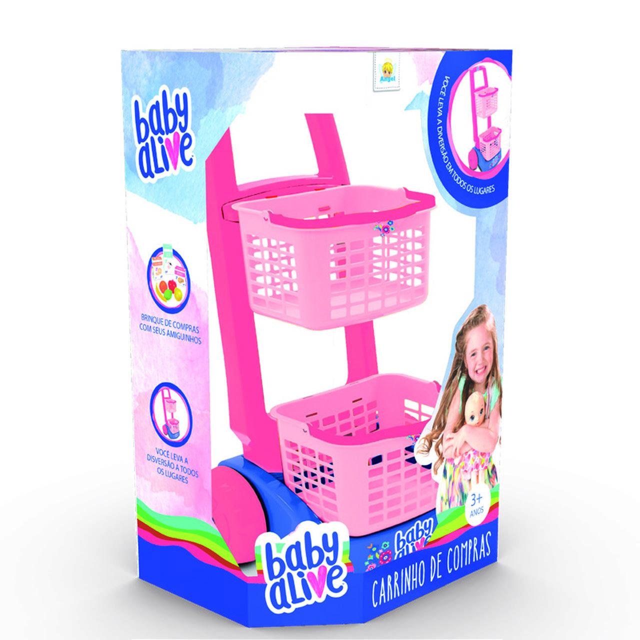 Carrinho de Compras Infantil Baby Alive - Angel Toys