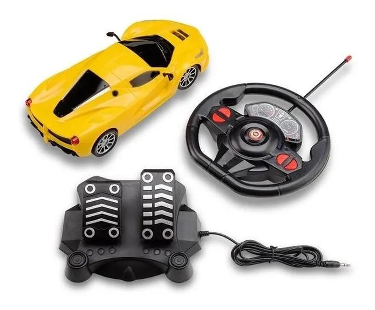 Carrinho de Controle Racing Control Multikids 1/16 - Amarelo