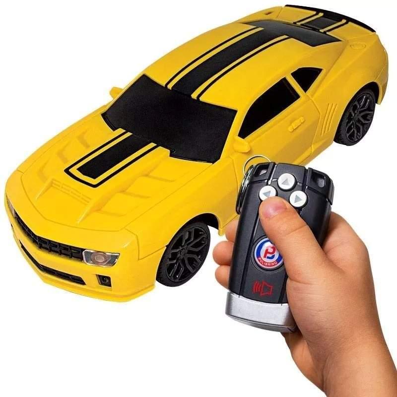 Carrinho de Controle Remoto Camaro Amarelo 26cm - Polibrinq