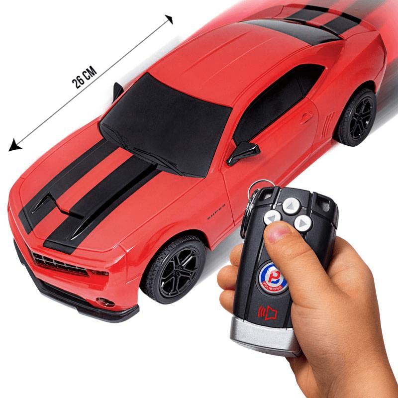 Carrinho de Controle Remoto Camaro Vermelho 26cm - Polibrinq