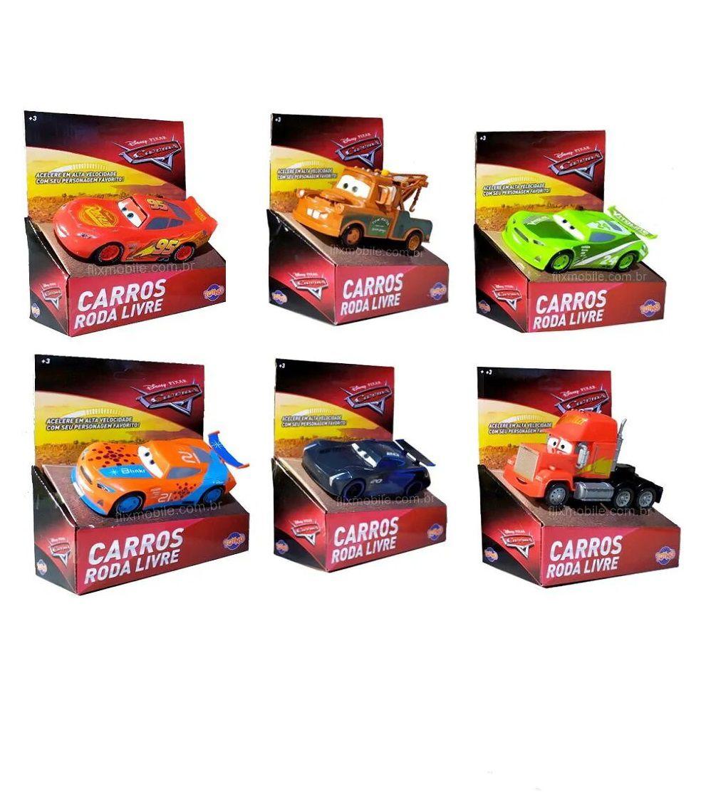 Carrinho Disney Pixar Carros 3 Roda Livre - Toyng