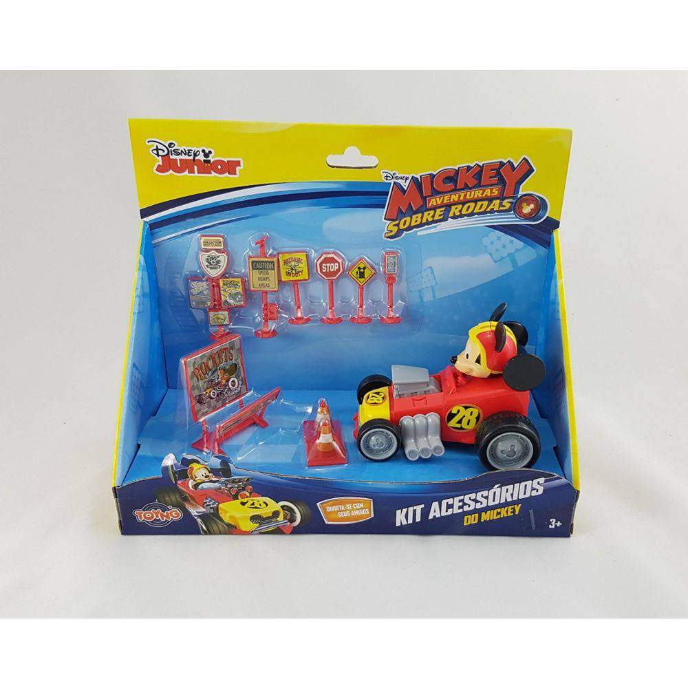 Carrinho Mickey Roda Livre  Com Acessórios - Toyng