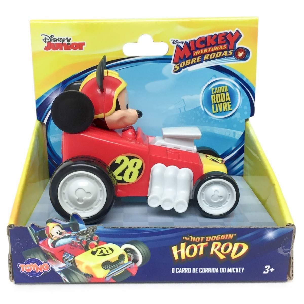 Carrinhos Roda Livre Mickey e Sua Turma Sobre Rodas - Toyng