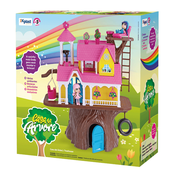 Casa Na Árvore para Bonecas Homeplay - Xplast 3901