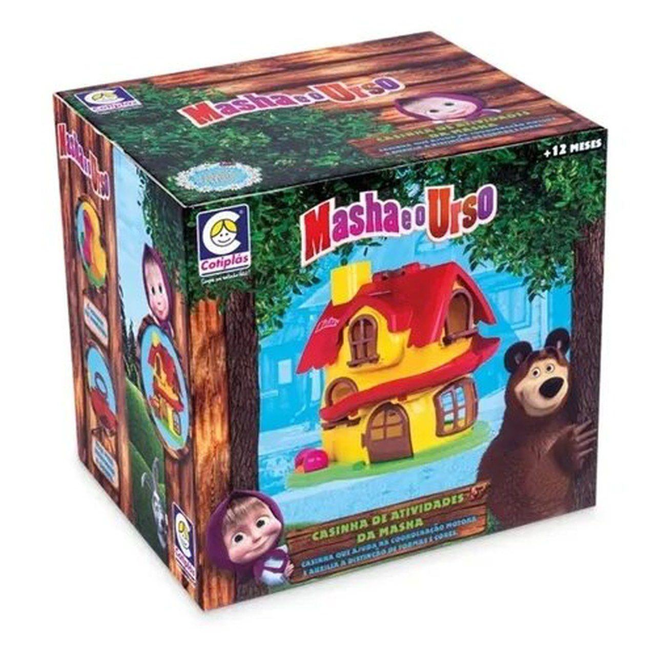Casinha Infantil Masha e o Urso Atividades - Cotiplás