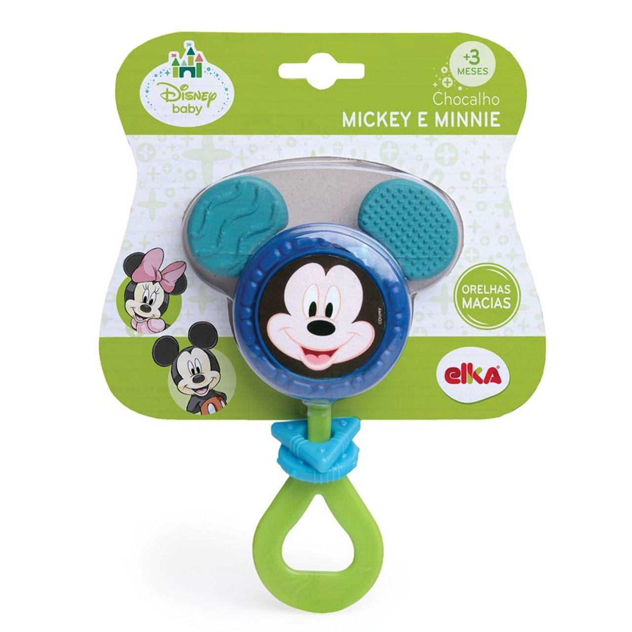 Chocalho Mordedor Infantil Mickey - Elka