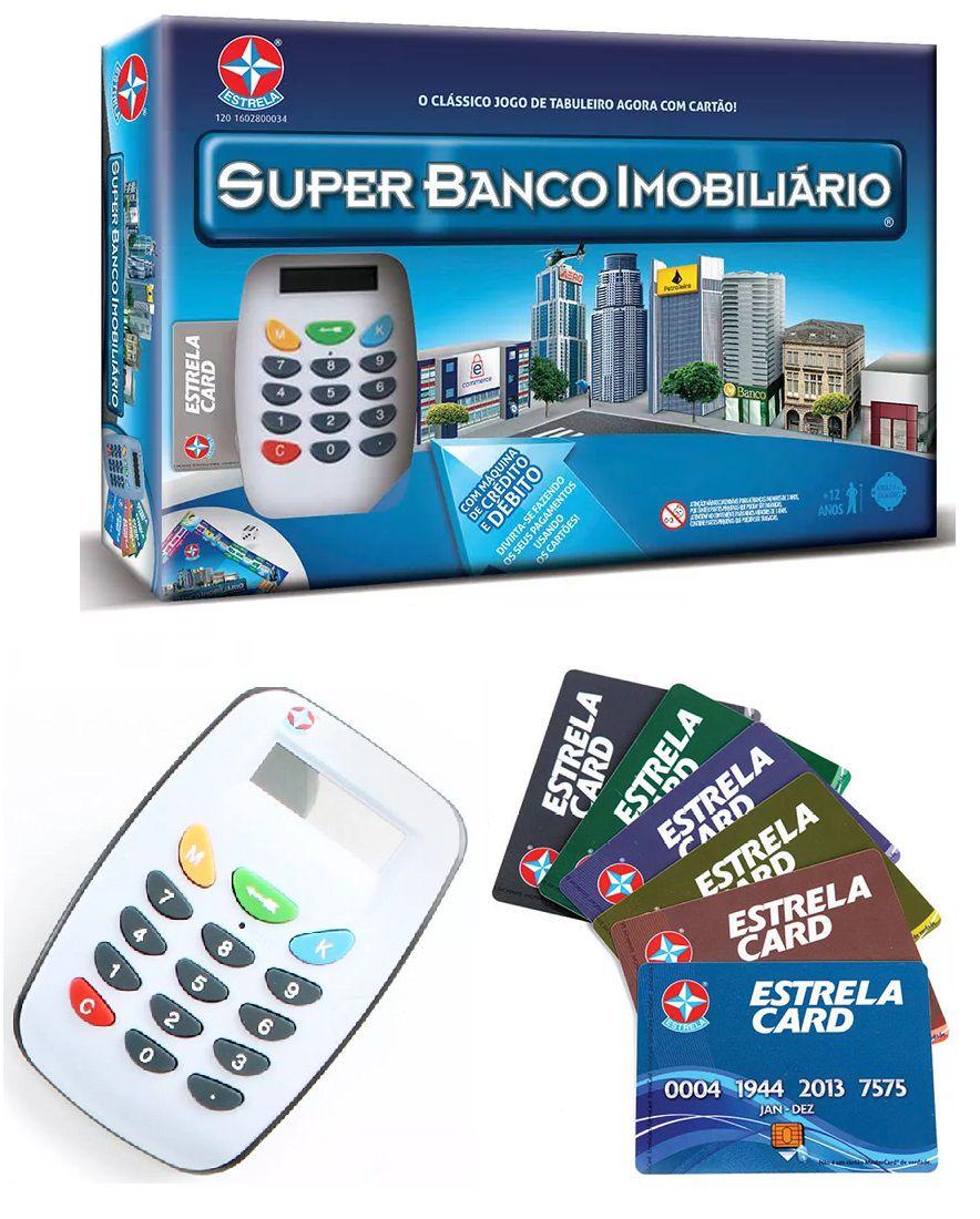 Jogo Super Banco Imobiliário Com Maquina - Estrela
