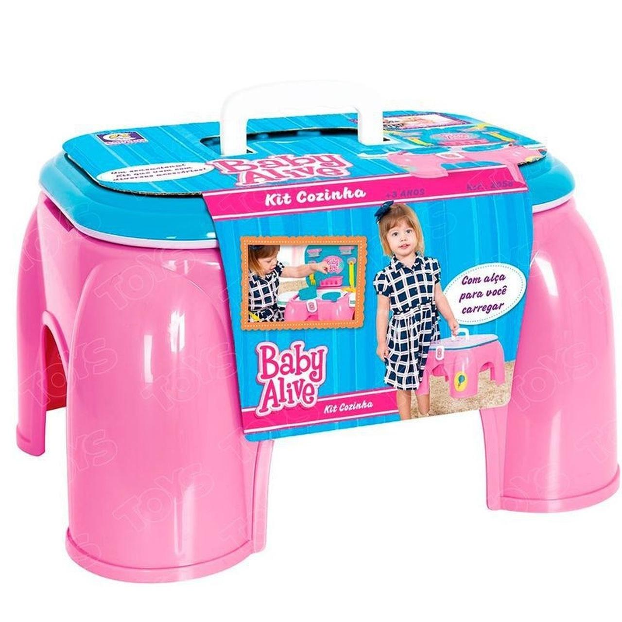 Cozinha Infantil Mini Kit Baby Alive Rosa - Cotiplas 2058