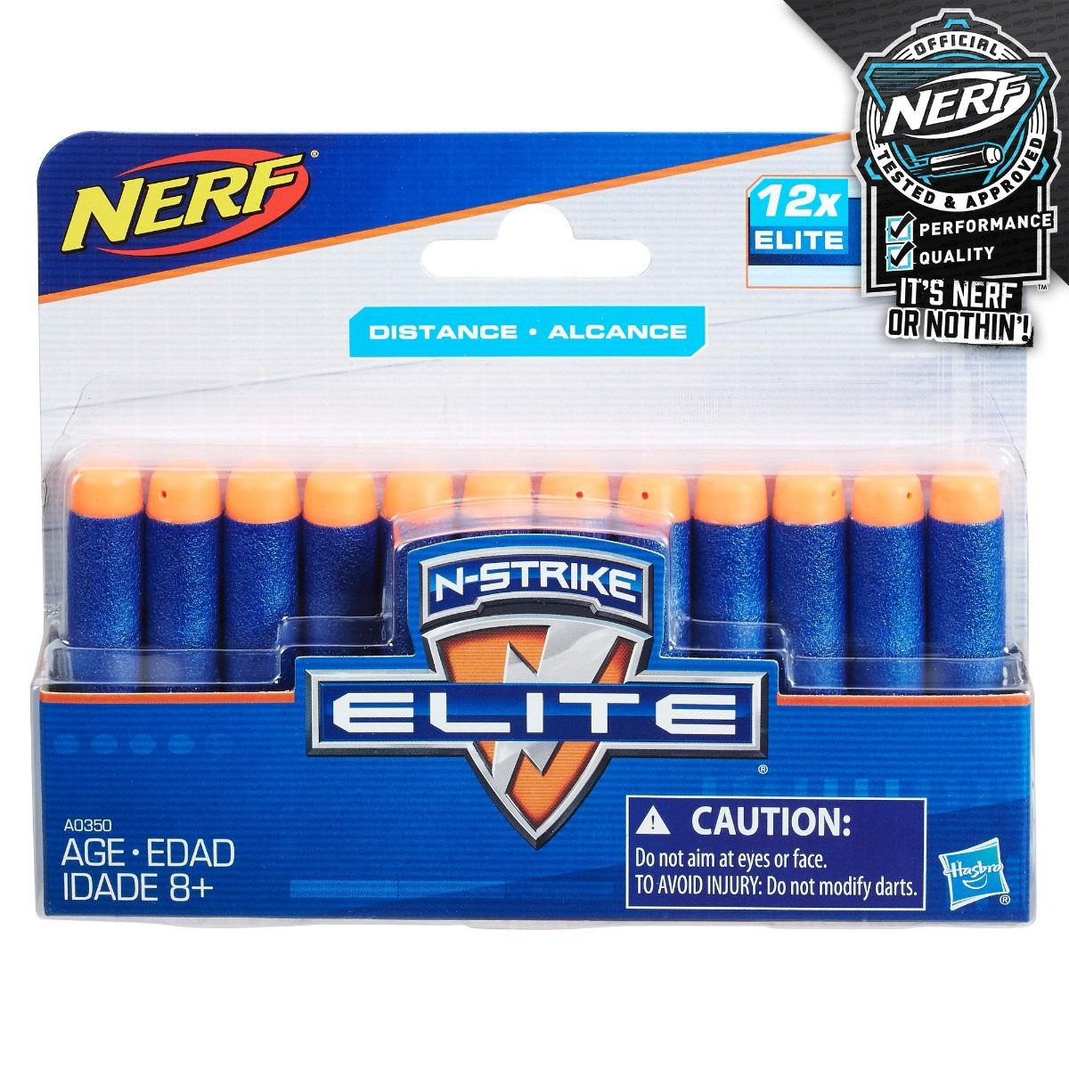 Dardos Nerf - N-strike Elite - 12x - Hasbro