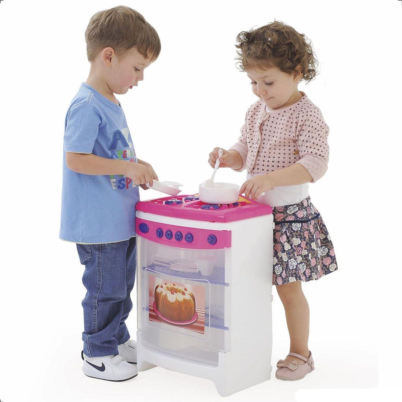 Fogão de Brinquedo Casinha Flor Estilo - Xalingo