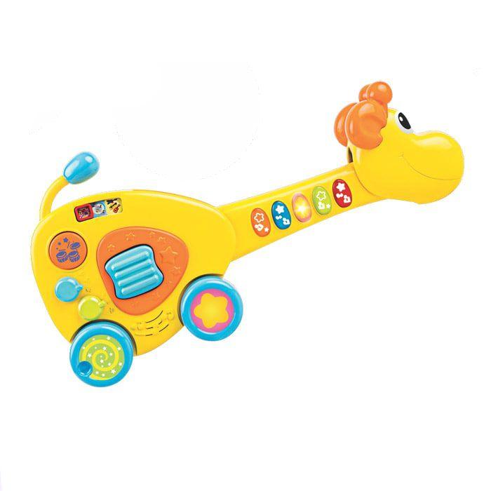 Brinquedo Infantil Guitarra Girarafa com som e luz - Winfun