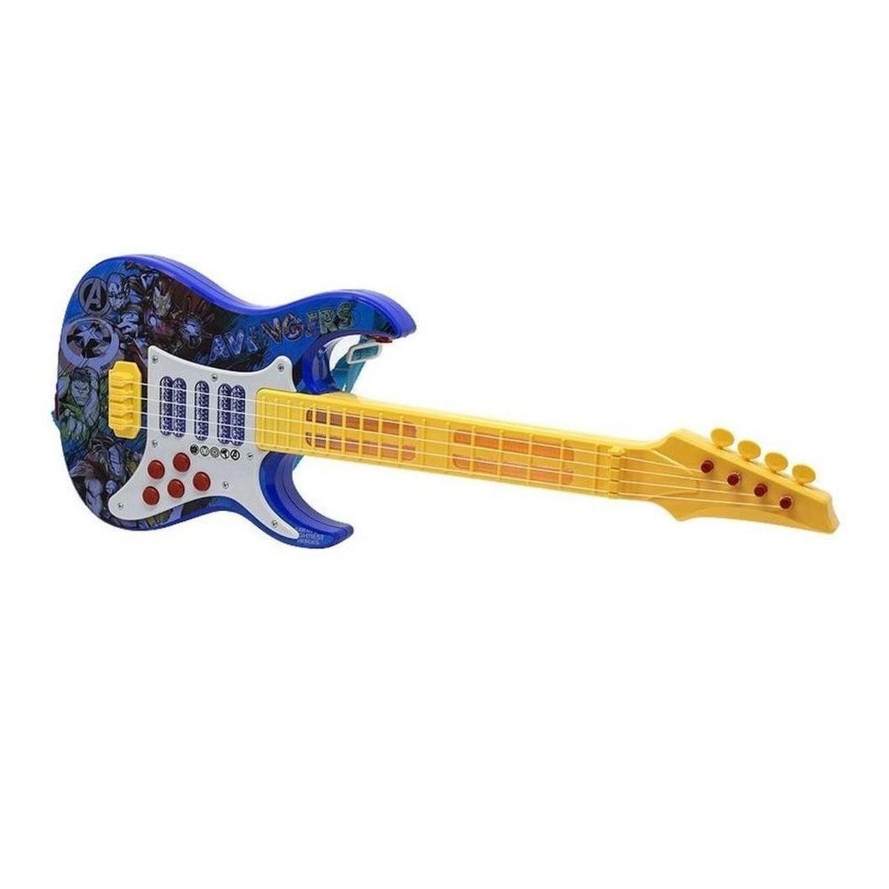 Guitarra Infantil Musical Vingadores Com Luz E Som Toyng