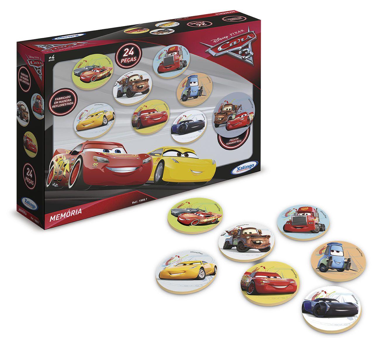 Jogo da Memória do Carros 3 Disney Pixar 24 peças - Xalingo