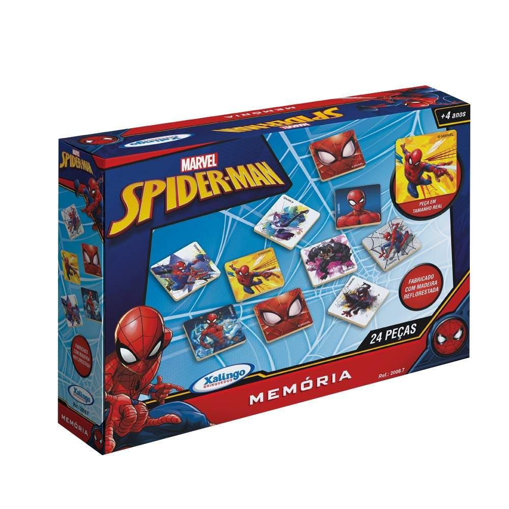 Jogo da Memória do Homem Aranha 24 peças - Xalingo