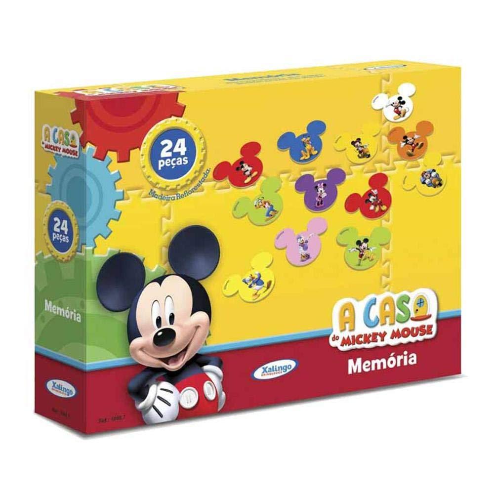 Jogo Da Memória Mickey Disney 24pçs 18987 Xalingo