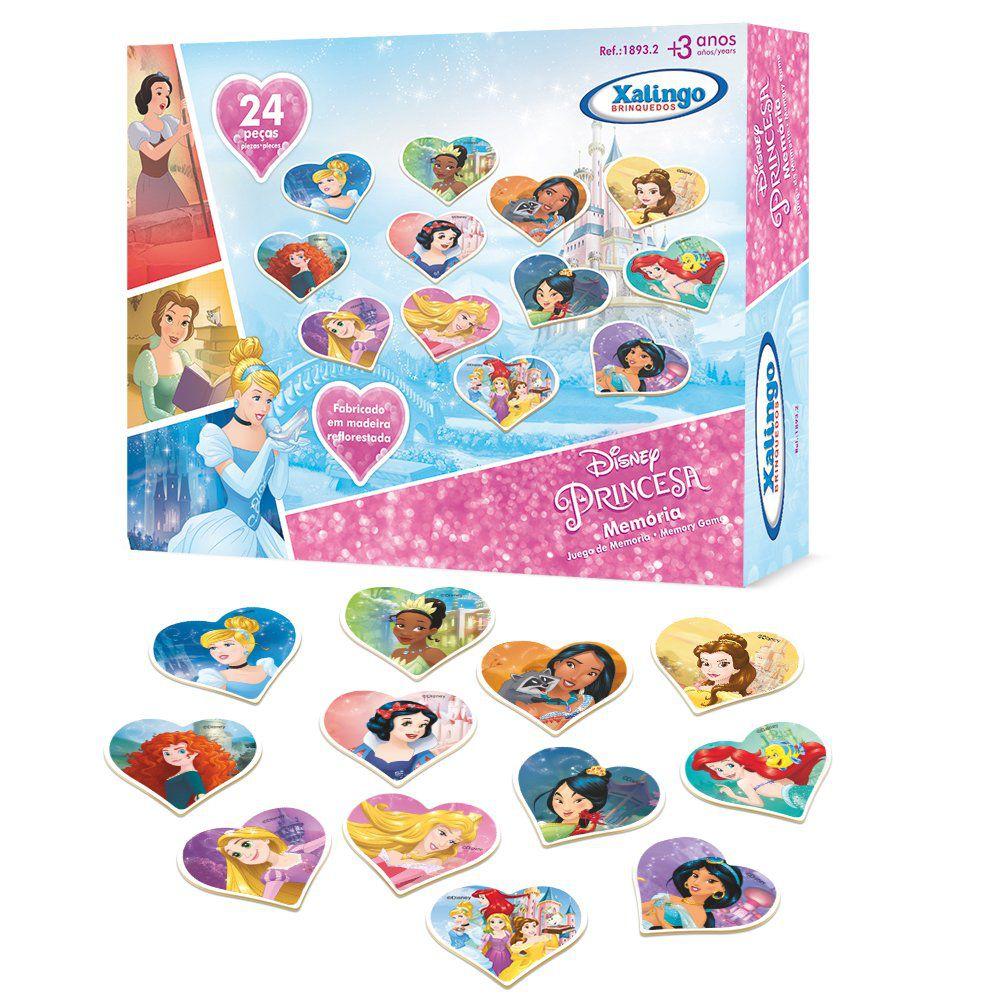 Jogo da Memória das Princesas Disney 24pçs - Xalingo 18932