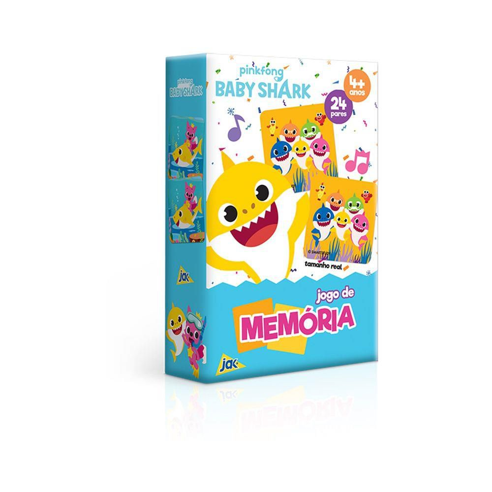 Jogo De Memória Baby Shark 24 pares Toyster