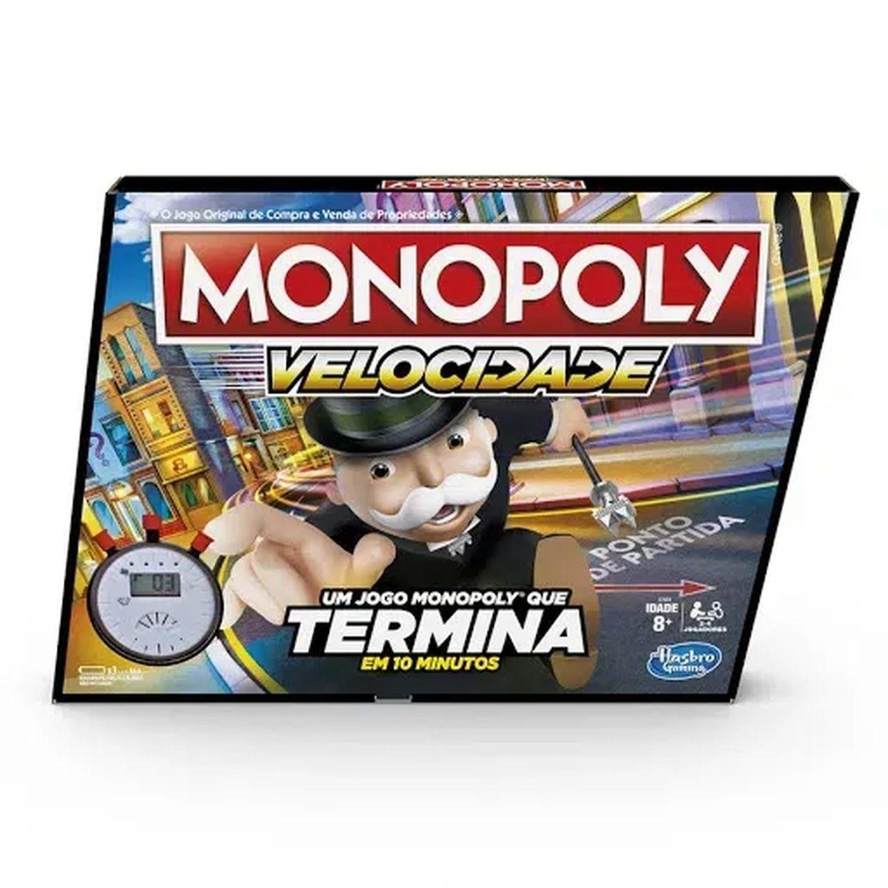 Jogo De Tabuleiro Monopoly Speed Original - Hasbro E7033